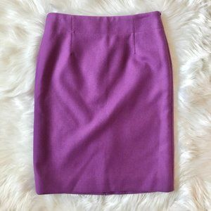 J. CREW The Perfect Pencil Skirt Purple Wool 4